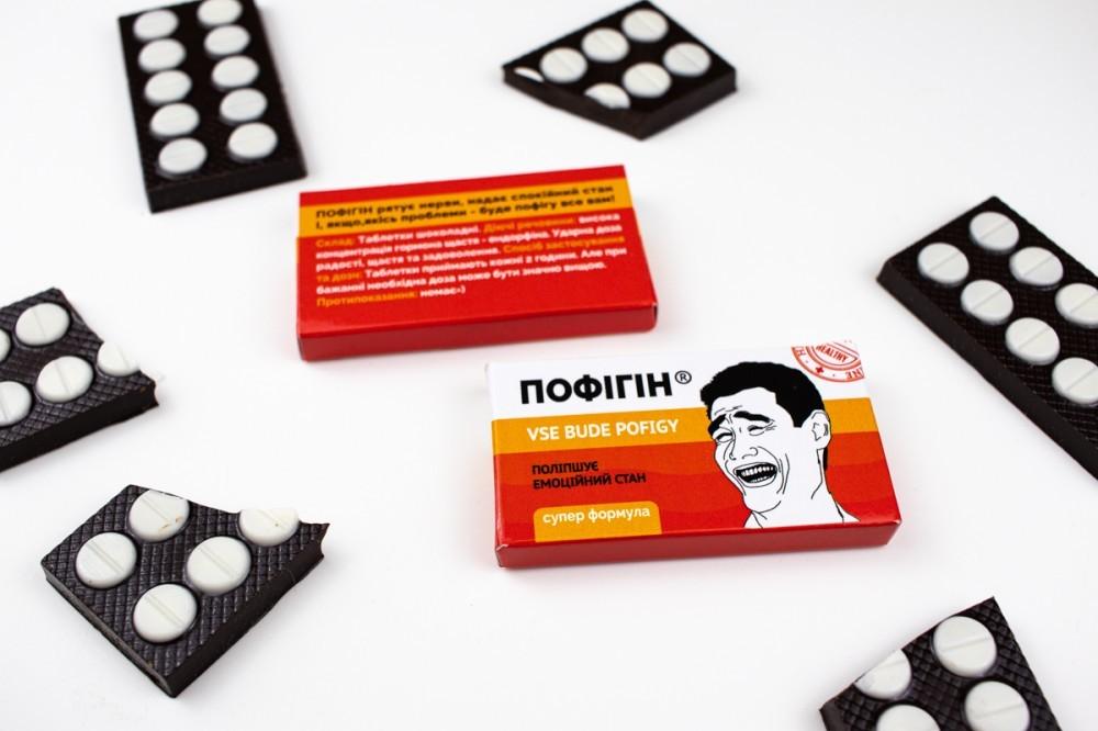 """Сувениры из шоколада """"Аптечка мужчине"""""""