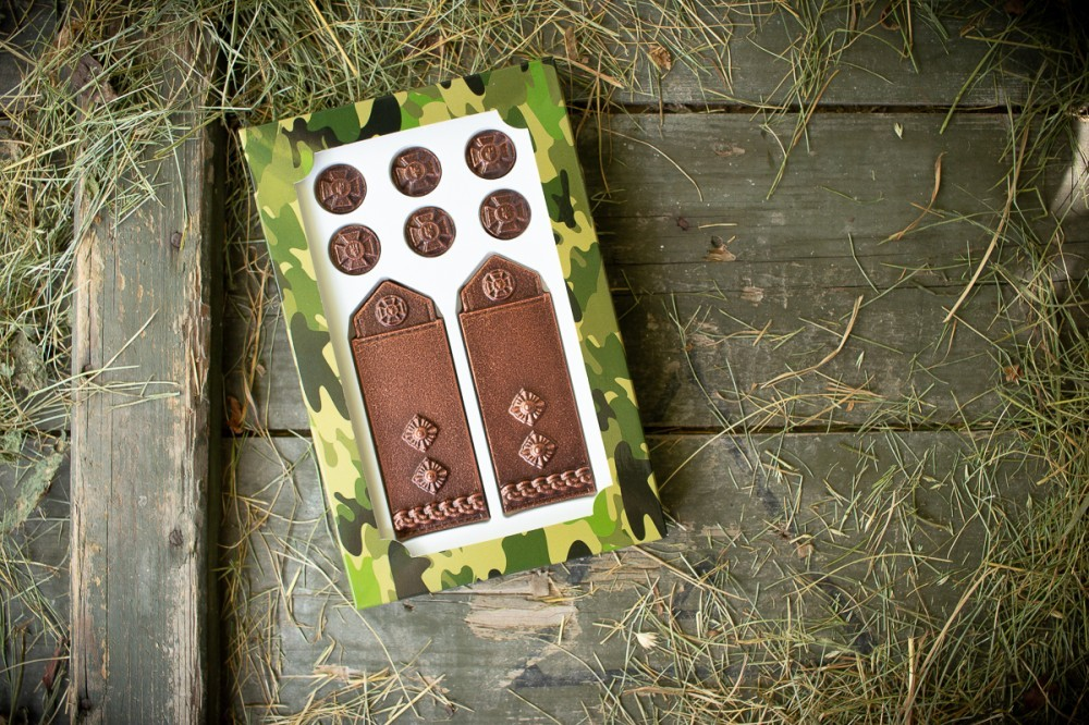 Шоколадные погоны подполковника