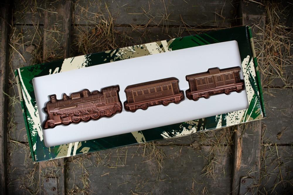 Шоколадный поезд и вагоны