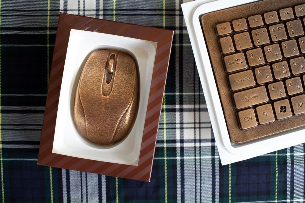 Шоколадная компьютерная мышь