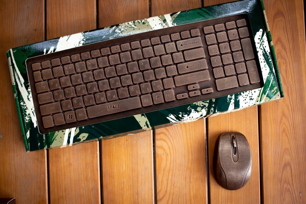 Шоколадная клавиатура на подарок
