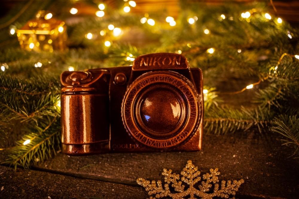 Шоколадный фотоаппарат для мужчины