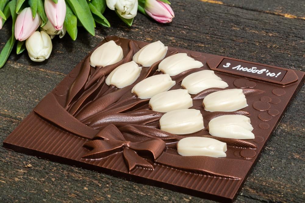 """Шоколадный подарок """"Тюльпаны"""""""