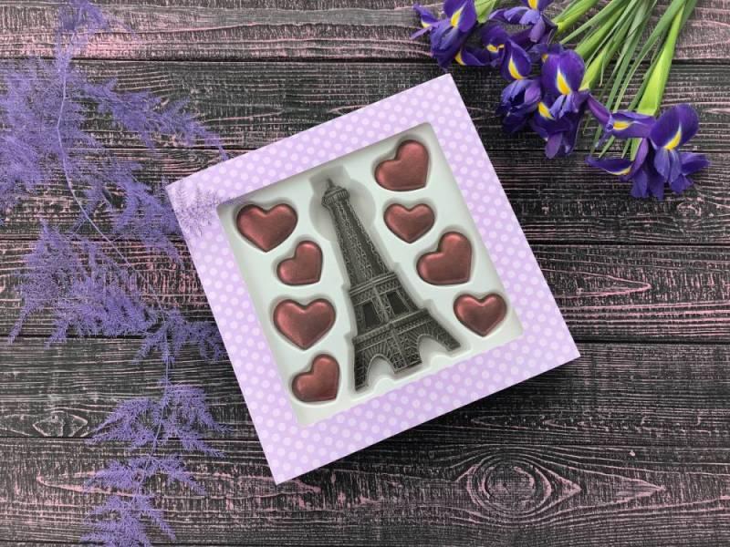 Шоколадный набор Париж с любовью
