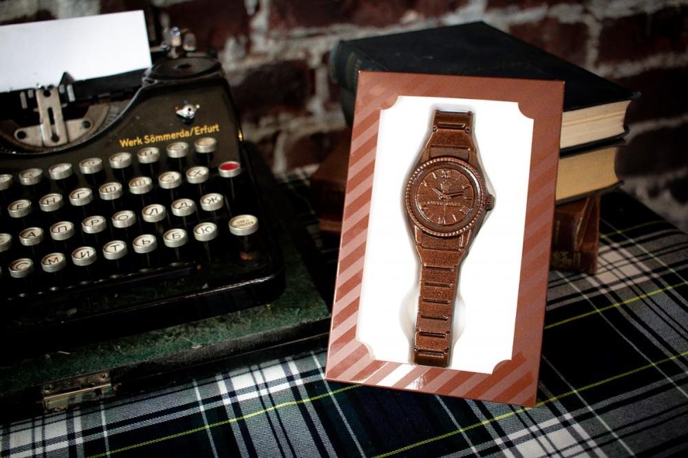 Шоколадные часы наручные