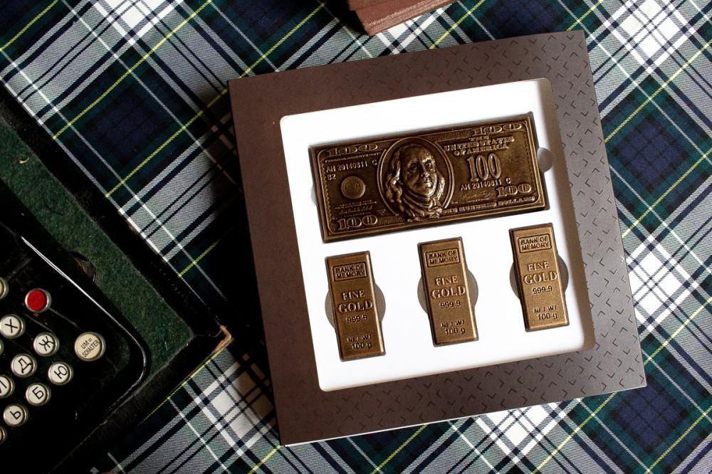 Набор шоколадных финансовых фигурок