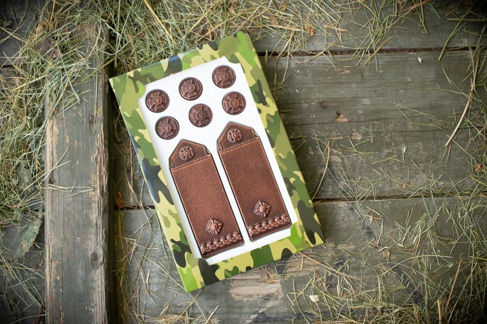 Шоколадные погоны майора