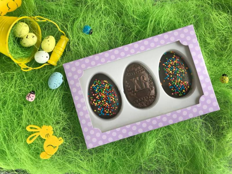 Шоколадный набор Пасхальные яйца с посыпкой