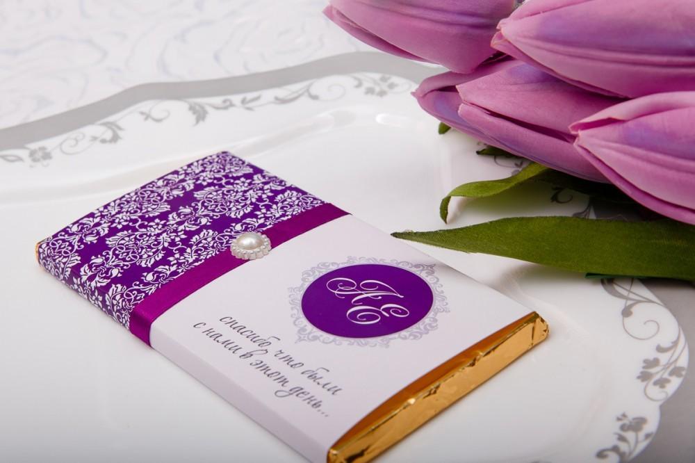 Свадебный шоколад именной (от 30шт)