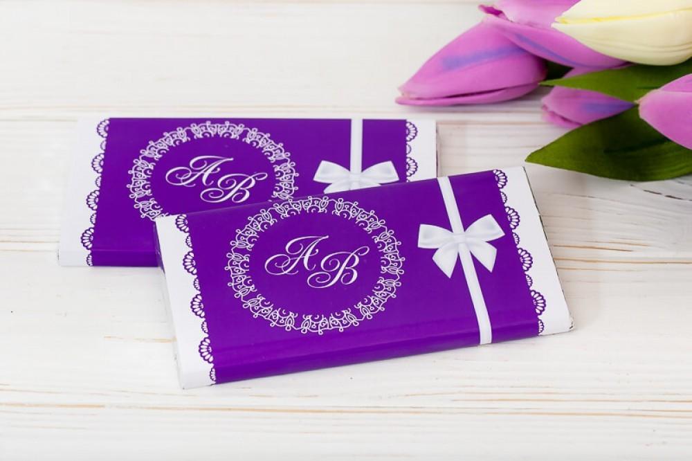Шоколадный свадебный подарок для гостей (от 30 шт)