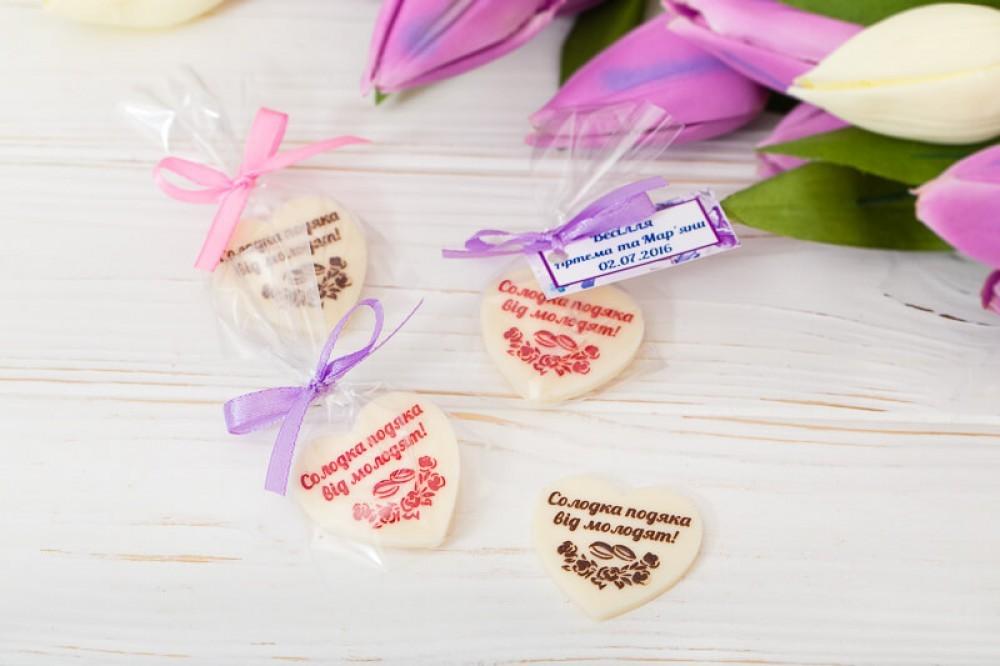 Шоколадный подарок гостям на свадьбе