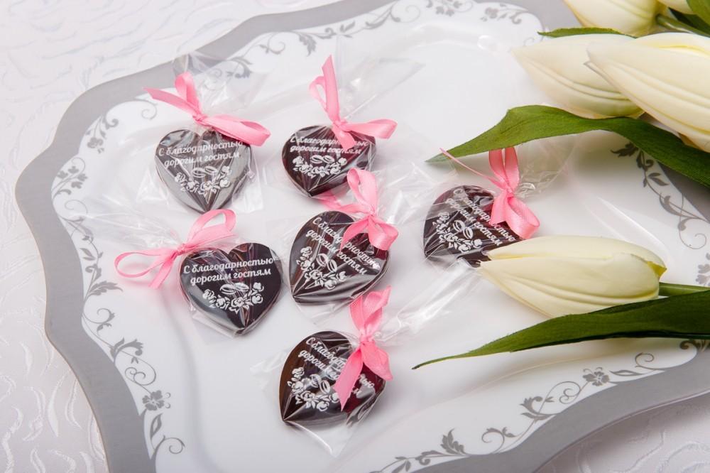 Шоколадные презенты гостям на свадьбе