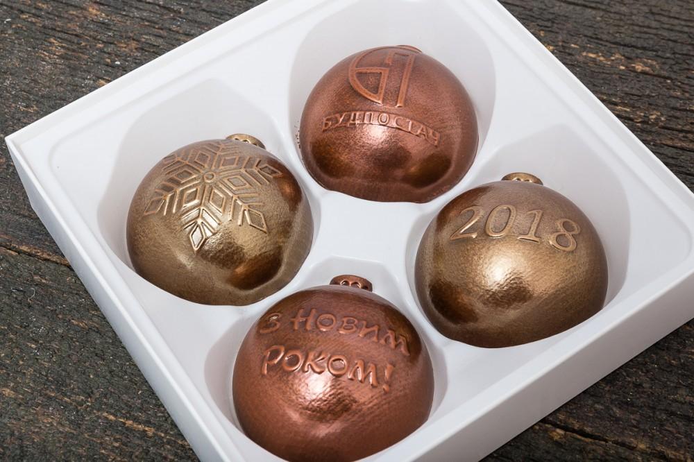 Набор шоколадных елочных игрушек