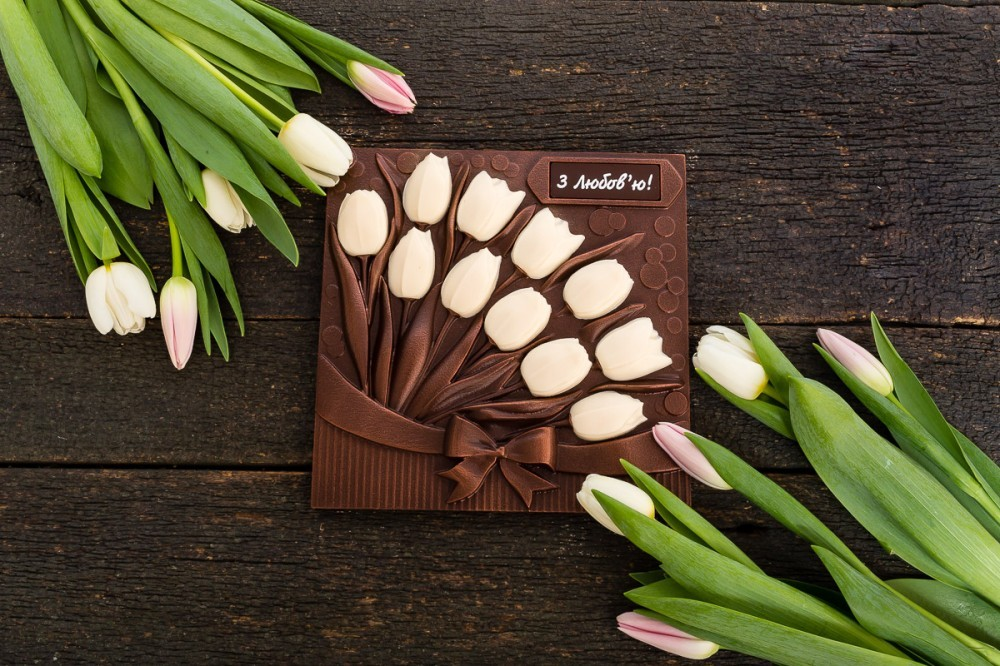 "Подарочный шоколад ""Тюльпаны"""