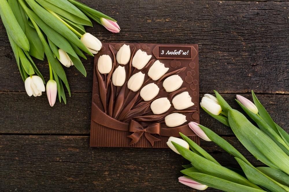 """Шоколад в подарок """"Тюльпаны"""""""